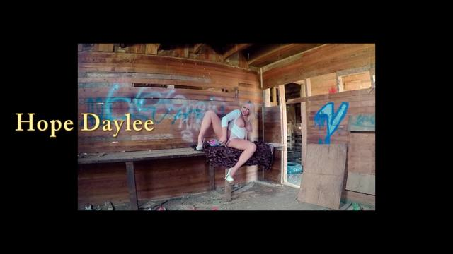 Public Squirt Masturbation in Abandoned Barn