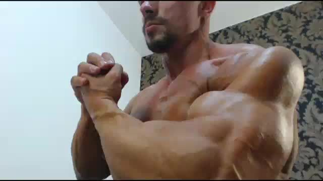 Candin Cristian Flexing Muscle