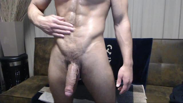 Very Well Develoed Body, Large Cock, Great Cum Shot