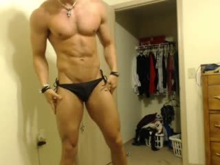 American Model Chats While Webcam Showing Off His Ass