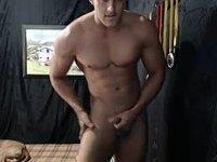 Latino Model Jerks Off with Cum Shot