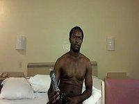 Black Tai Webcam Shows His Dick and Uses a Dildo