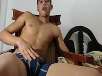 Latino Model Nilo Plays with His Dick