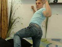 Hot Colombian Model Strip and Jerk a Bit