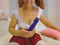 Betty Preston Blue Vibrator, Pussy