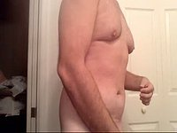 Mature Guy Jerks His Limp Dick