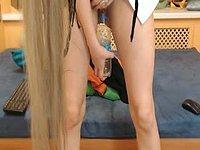 Milena Pees on a Bottle