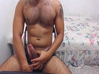 Hairy Guy Sucking His Fingers and Flirting with Viewers