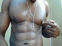 Ebony Model Christopher Shoots Huge Load