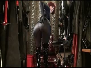 Ass Worship, Tight Lycra Bodystocking Corset Boots