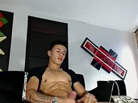Latino Model, Dorian Plays with His Dick