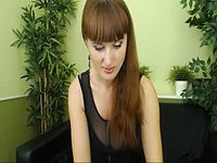 Tall Glamorous Redhead Strips and Plays