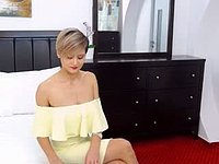 Short Haired Girl Going Sexy