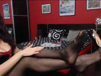 The Massaging Mistress in Black Stockings