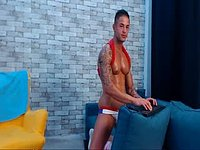 European Model Jason Plays with His Dick
