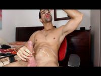 Latino Model Tiago Plays with His Dick and Uses Toy