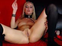 Sonya Drew Blonde, Dildo, Blowjob, Nipple-clamps