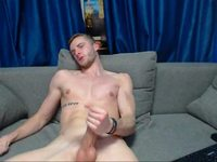 Horny Ken Skarsgaard Webcam Shows His Cock!