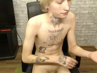 Hot Blonde Twink Strokes to a Sweet Cum!