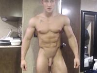 Jamie Branson Hot Young Bodybuilder Displaying