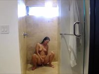 Amazing Webcam Shower and Dildo Fun