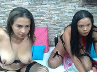 Julia Savalos & Karimme S Private Webcam Show