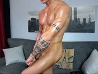 flex naked and put oil on body :P :D - Part 2