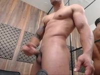 Great Latino Defined Muscle Model  Jerking