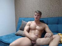 Cute Face Hot Body and Dick Euro Hunk Jerking Close to Cum