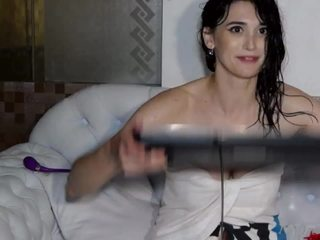 Raven-haired goddess Baylee Love shows off her magnificent body and her insatiable sexual appetite in this hot shower show.