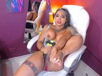 Irina Channel Strokes Her Cock to Perfection