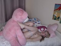 Fake sex with my pink Teddy
